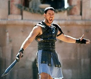 Gladiator Fighting Scene